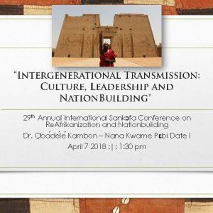 """Intergenerational Transmission: Culture, Leadership and NationBuilding"""