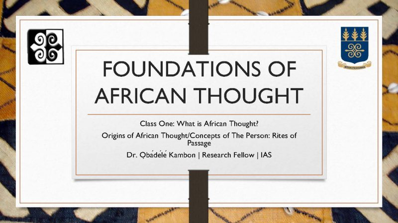 Foundations of Afrikan=Black Thought 2018 Bundle [Complete 1-14]