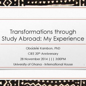 Transformations through Study Abroad: My Experience