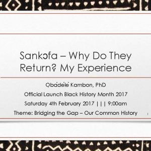 Sankɔfa Why do they return? My experience.