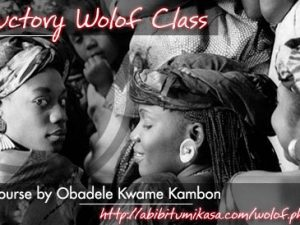 Recording: Introductory Wolof Class 2 Online Jan 16, 2014